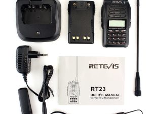 Tragbar Funkgeräte Retevis RT23 Cross-Band Repeater UHF+VHF 5W Walkie Talkie